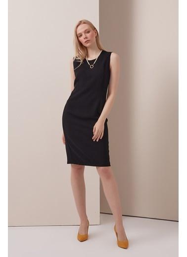 Gusto Jile Elbise - Siyah Jile Elbise - Siyah Siyah